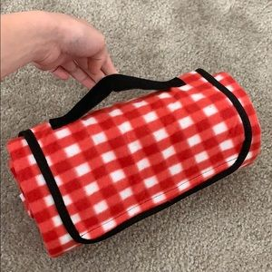 Other - Picnic red blanket foldable compact